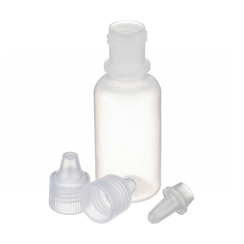 WHEATON LDPE Natural Color Dropping Bottle with Tip & Cap