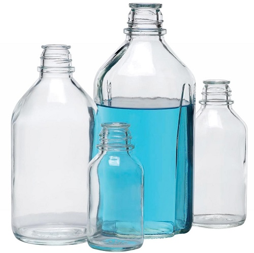 WHEATON Non-Graduated Glass Media Bottles