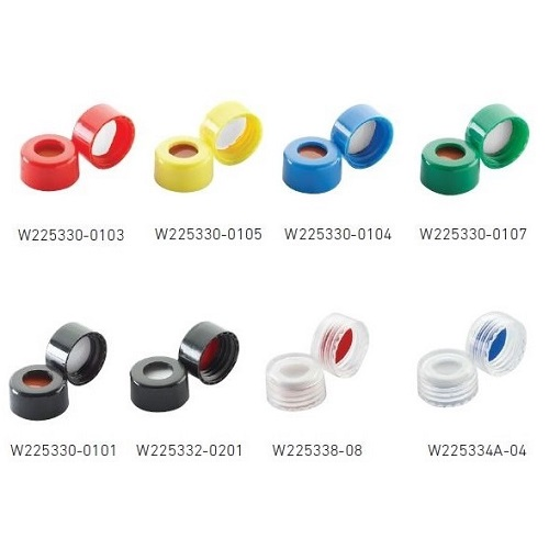 WHEATON ABC Screw Caps for Chromatography Vials
