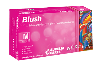 Aurelia Blush Nitrile Gloves- Supports Breast Cancer Research