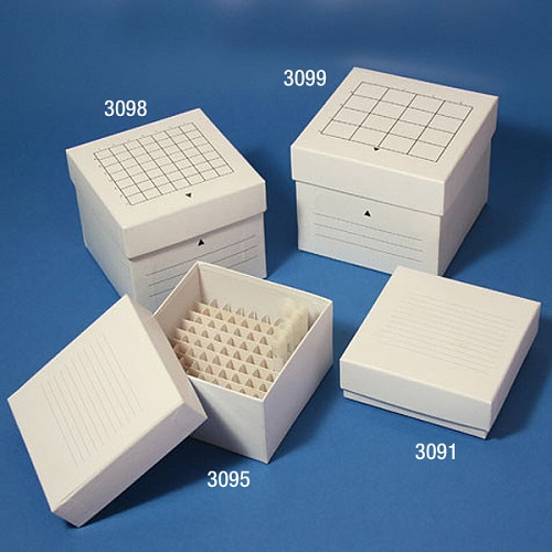 Freezer Boxes with Dividers from Globe Scientific