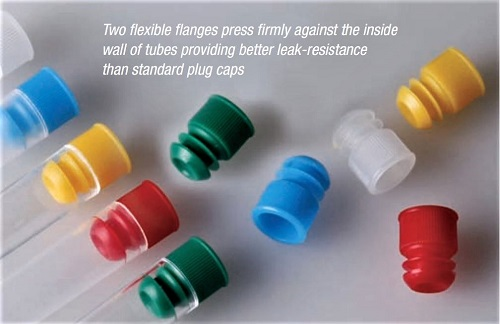 Globe Scientific Flange Plug Caps for Vacuum and Test Tubes