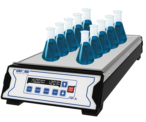 Oxford Lab Products BenchMate MHS-5 and MHS-10 Multi-Position Magnetic Hotplate Stirrer