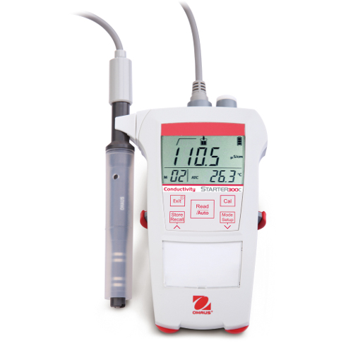 OHAUS Starter 300C Portable Conductivity Meter – TDS Test | Pipette.Com