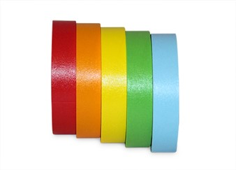"1/2"" Wide Colored Labeling Tape"