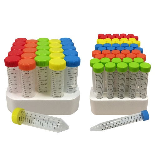 15 mL & 50 mL Color Coded SpectraTube Centrifuge Tubes from MTC-Bio