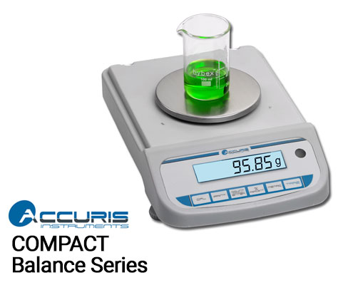 Benchmark Accuris Compact Balance Series, Readability, 0.1 to 0.01g