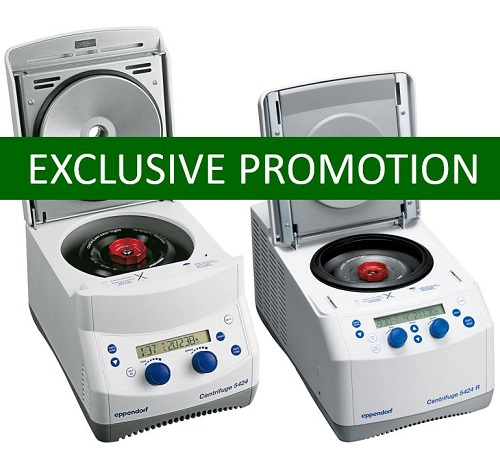 Eppendorf 5424 Centrifuge and Eppendorf 5424 R Centrifuge Promotional Offers