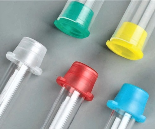 Globe Scientific Universal Fit Snap Caps for Vacuum and Test Tubes