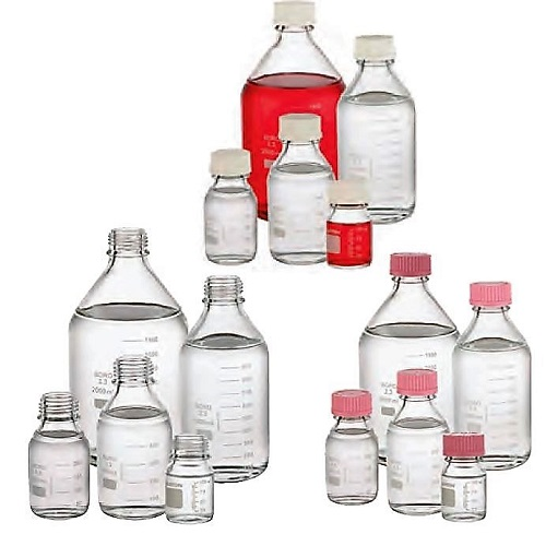 WHEATON Glass Media Lab 45 Graduated Bottles