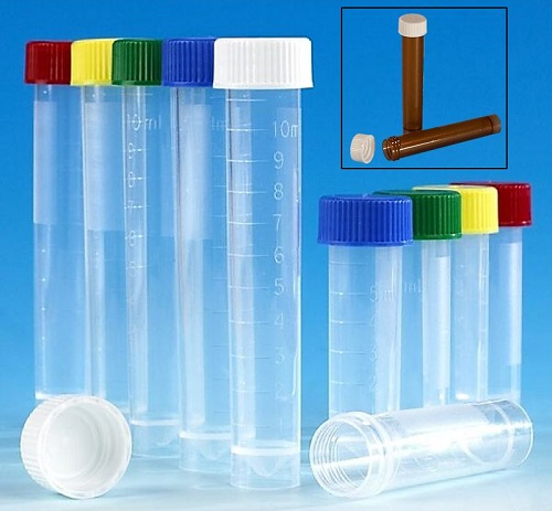 Globe Scientific Screw-Cap Transport Tubes