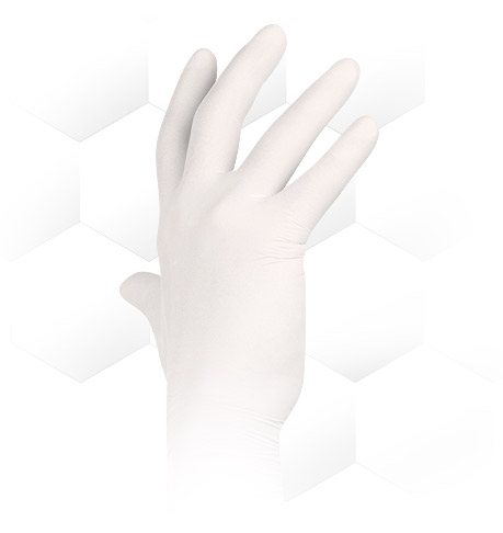 Aurelia Vibrant Chlorinated Latex Gloves